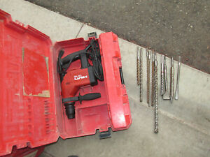 Hilti Te15 Rotary Hammer Drill 115v W Lot Bits Case Tested works Great 918