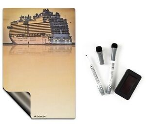 sunset Cruise Magnetic Dry Erase Board 2 Dry Erase Markers 1 Dry Eraser