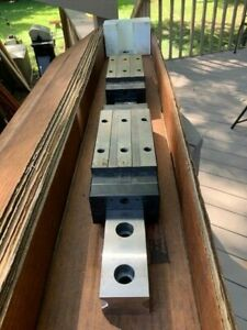 Thk Linear Rail And Two Linear Bearings huge 55mm Wide Rail