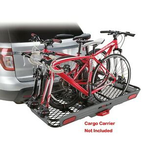 3 Bike Mount Adapters Converter Kit For A Railed Hitch Cargo Basket Carrier