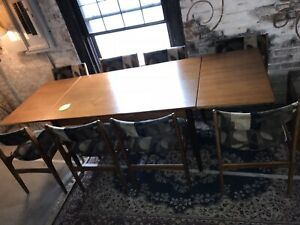Mid Century Modern Teak Dining Table Expandable Leaves Made In Denmark Superb