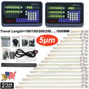 Digital Linear Scale 2 3axis Readout Dro Display Sensor Mill Lathe Edm Grinding