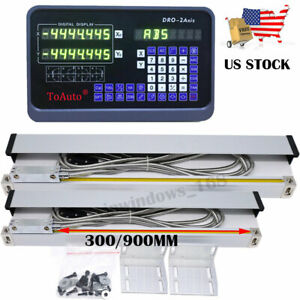 2pc Linear Scale 12 36 Ttl Encoder 2axis Digital Readout Dro Display Kit Us