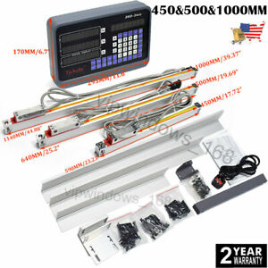 450 500 1000mm Linear Scale Encoder 3axis Digital Readout Dro Display Kit Us