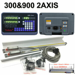 10 40 2axis Digital Readout Ttl Linear Glass Scale For Mill Milling Lathe