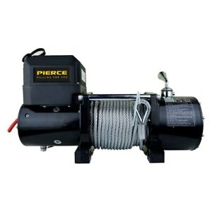 Pierce Ps6000 6 000 Lbs Ps Series Self Recovery Electric Winch W Steel Cable