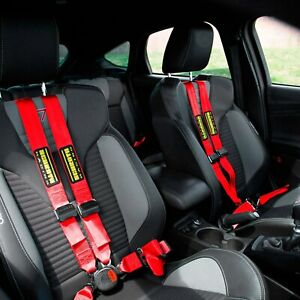 For Mini Cooper 07 13 Schroth Quickfit Pro Passenger Side Harness Set Red