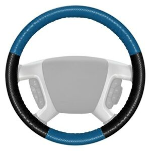 Europerf Perforated Sea Blue Steering Wheel Cover W Black Sides Color