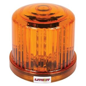 Battery Operated Magnetic Mount Rotating Amber Led Beacon Light
