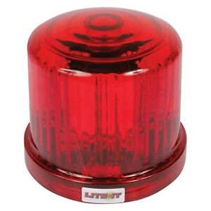 Battery Operated Magnetic Mount Rotating Red Led Beacon Light