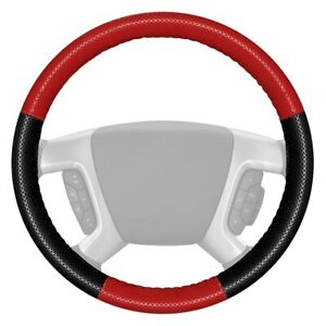 For Chevy Camaro 10 11 Steering Wheel Cover Europerf Perforated Red Steering