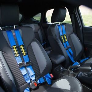 For Mini Cooper 02 06 Schroth Quickfit Pro Driver Side Harness Set Blue