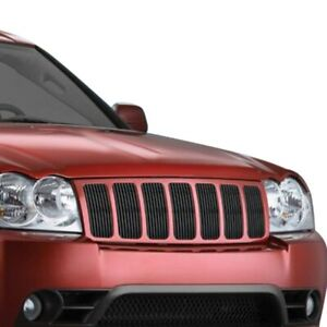For Jeep Grand Cherokee 2006 2008 Apg 7 pc Black Vertical Billet Main Grille