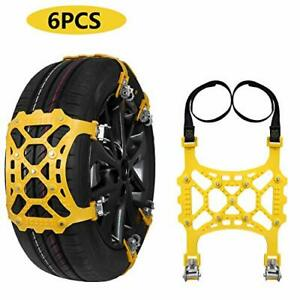 Suptempo Car Snow Chains 6pcs Emergency Anti Slip Tire Traction Chains Upgrad