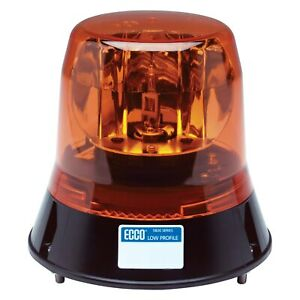 Ecco 5813a 5800 Series 3 bolt Mount Low Profile Rotating Amber Beacon Light