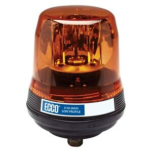 Ecco 5816a 5800 Series 1 bolt Mount Low Profile Rotating Amber Beacon Light