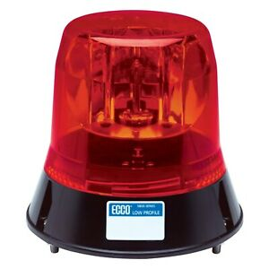 Ecco 5813r 5800 Series 3 bolt Mount Low Profile Rotating Red Beacon Light