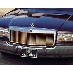 For Cadillac Fleetwood 93 96 Main Grille 1 Pc Classic Series Low Profile Silver