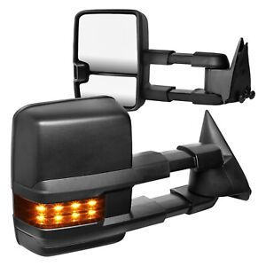 For Chevy C1500 88 98 Towing Mirrors Driver Passenger Side Power Towing