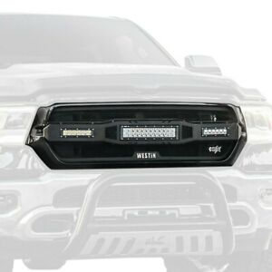 For Ram 1500 19 20 Westin 1 Pc Hdx Series Led Black Wire Mesh Main Grille