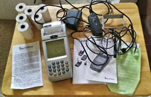 Nurit Verifone 8000 8010s With Charger External Modem Manuals Thermal Paper