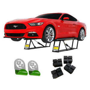 Quickjack 5 000lb Slx Capacity Portable Car Lift Bundle Brand New