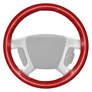 For Chevy Corvette 14 15 Wheelskins Original One color Red Steering Wheel Cover