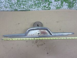 1956 Mercury Custom Station Wagon Tailgate Emblem Trim 79435002b 1955 Oem