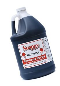Snappy Popcorn Root Beer Sno Cone Syrup 1 Gallon 11 Pound