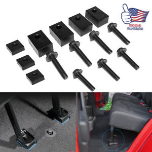 Jeep Wrangler Jku jl Rear Seat Recline Kit Spacers For 2007 2018 Black Aluminum