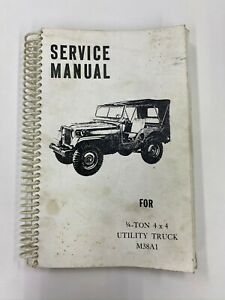 Vintage Service Manual For 1 4 Ton 4 X 4 Utility Truck M38a1