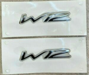 Bentley Continental Flying Spur Gt Gtc Quarter Panel W12 Badge Emblem X2 Genuine