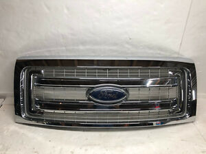 13 14 2013 2014 Ford F150 Front Grill Grille Chrome Oem Dl34 8200