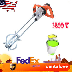1800w Drywall Mortar Hand held Mixer Plaster Cement Render Paint Mixer Tool Usa
