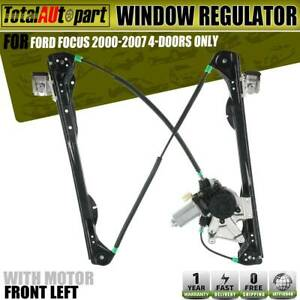 Window Regulator With Motor Front Left For Ford Focus 2000 2007 4 5 Doors Only