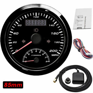 85mm Universal 200mph Gps Speedometer With Tachometer 8000rpm For Car Motorcycle