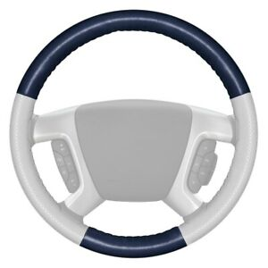 Wheelskins Europerf Perforated Blue Steering Wheel Cover W White Sides Color