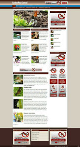 Garden Pest Control Affiliate Website With New Domain And Hosting