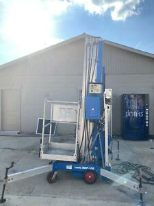 Genie Awp 36s Personnel Push Around Compact Vertical Lift Manlift