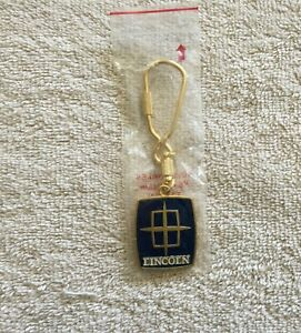 Vintage Ford Lincoln Dash Accessory Key Chain Nos Metal Holder Fob Promo