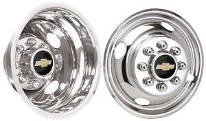 Dually Wheel Simulators 01 02 03 04 05 06 07 Chevy Chrome Stainless Bolt On 16