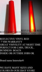 12 X 48 Red Reflective Vinyl Adhesive Sign Hight Reflectivity Intersolar