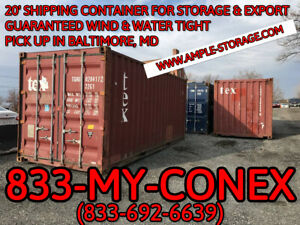 20 Shipping Container Cargo Worthy Baltimore Md