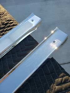 1961 1964 Chevrolet Impala Door Sill Plates Triple Chrome Plated