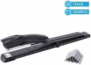 Craftinova Long Reach Stapler Include 2000 Staples Full Strip Black