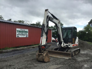 2008 Bobcat 337g Hydraulic Mini Excavator W Cab Thumb Only 3700 Hours