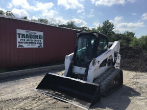 2014 Bobcat T650 Compact Track Skid Steer Loader A91 2spd High Flow Joysticks