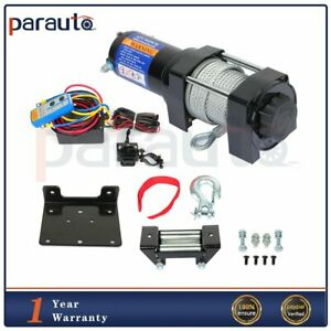 4000lb Electric Winch Towing Trailer Steel Cable Off Road Remote Control 12v