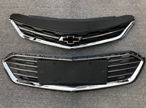 2pc Grill For Chevrolet Cruze 2016 2018 Front Bumper Vent Upper Middle Grille Us
