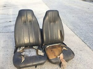 1969 1970 Ford Mustang Mach Shelby Cougar Black Bucket Seat Set